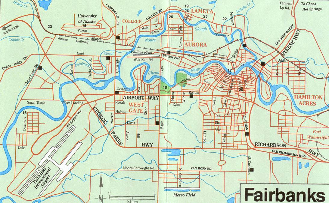 Maps of Fairbanks FAIRBANKS MAP