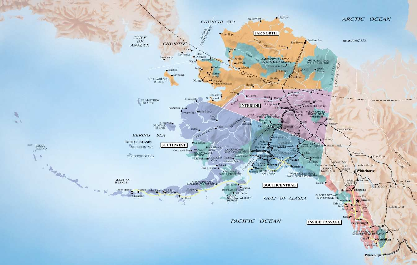State Road Maps for Alaska